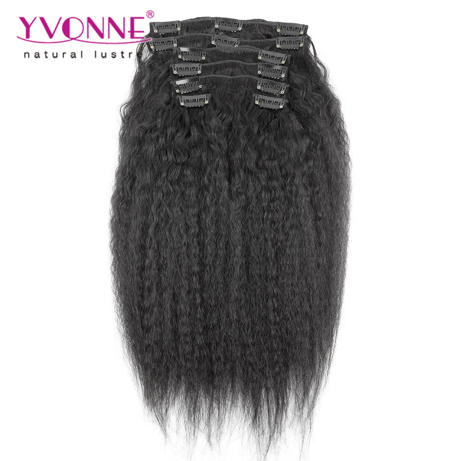 Brazilian Human Hair Clip in Extension Kinky Straight Clip in Hair Extensions