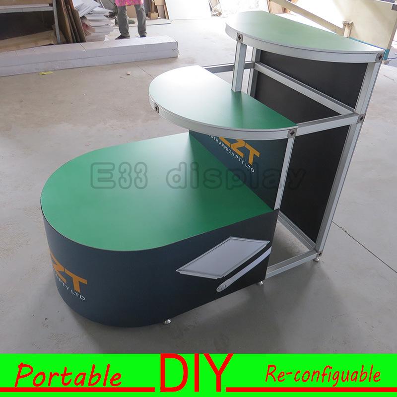 Custom Modular Portable Trade Show Exhibition Display Combination Counter
