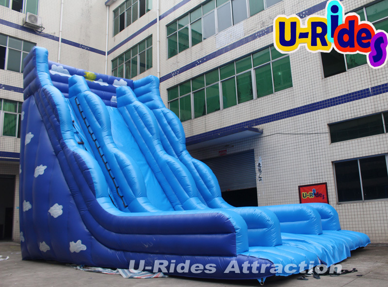 Giant deep blue Inflatable Slide for adult