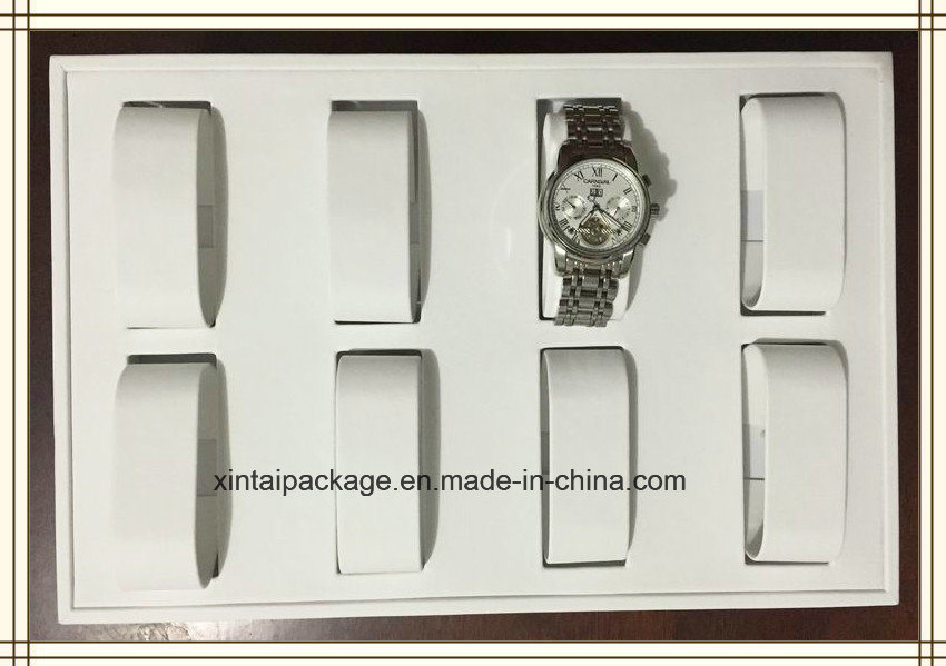 Wooden PU Ring, Watch, Pendant, Necklace Display Tray
