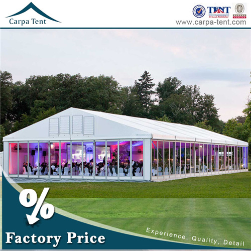 Aluminum Material Outdoor Garden Pavilion Banquet Tent with Glass Wall
