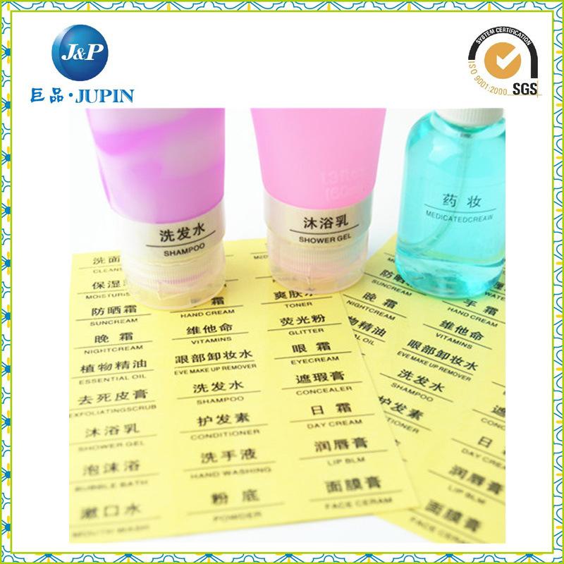 Customized Custom Waterproof Self Adhesive Transparent Sticker Label (JP-s064)