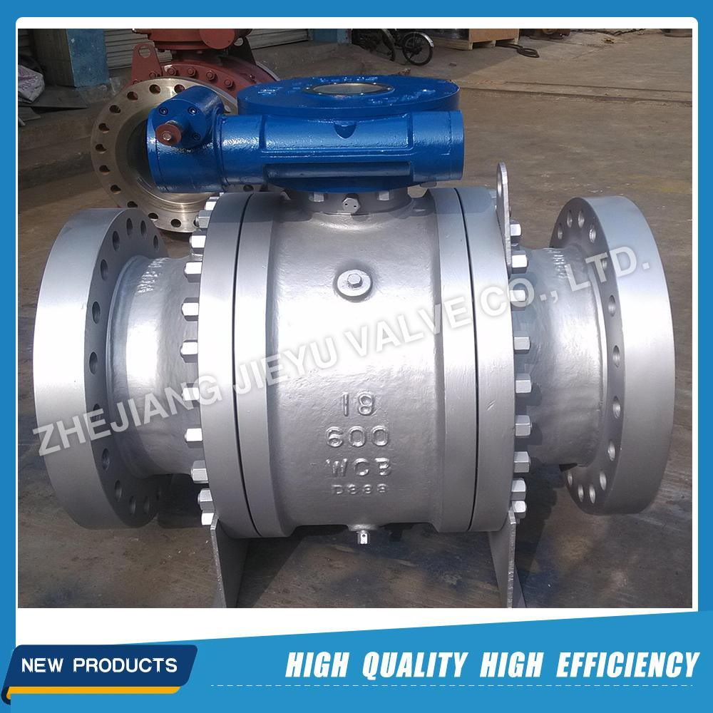 API 6D Cast Steel 3PC Trunnion Mounted Ball Valve