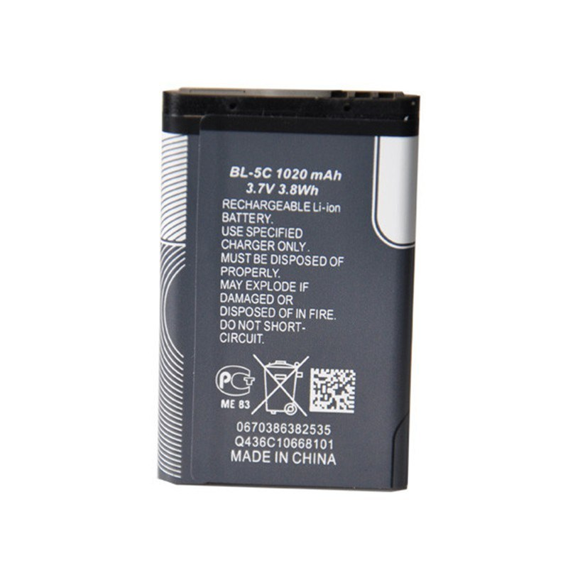 1020mAh Replacement Cell Phone Batteries Bl-5c for Nokia 1100/1108/1110 and More Nokia Phone Battery
