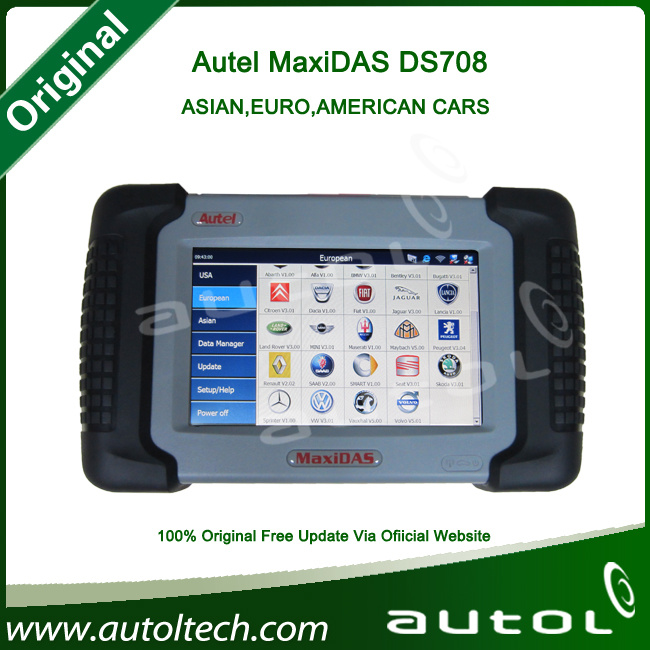 Top 2015 Original Car Diagostic Tool Ds708 Scanner Update Online Support WiFi Ds708 Auto Diagnostic Tool Multi-Language Ds708
