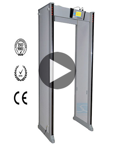Walk Through Metal Detector Gate for 24 Detaing Zones