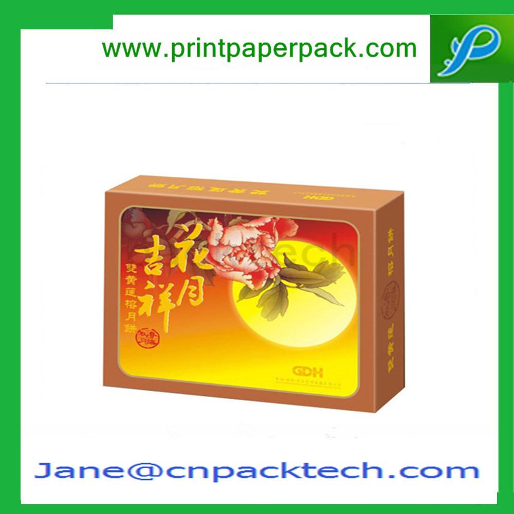 Custom Art Coated Paper ISO9001 Chocolate Cake Mooncake Packaging Box