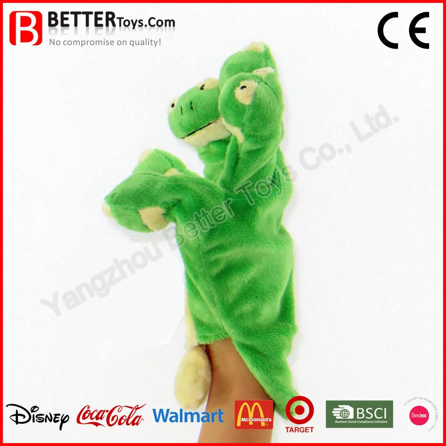 Stuffed Frog Soft Plush Animal Hand Finger Puppet