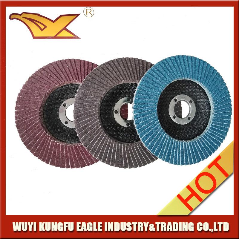 4.5′′ Calcination Oxide Flap Abrasive Discs (Fibre glass cover 22*14mm)