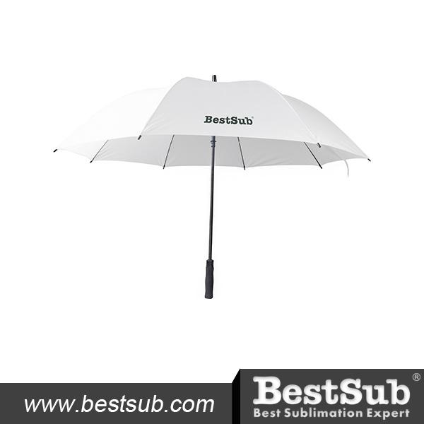 30 in. Golf Umbrella (Self-Opening, White)