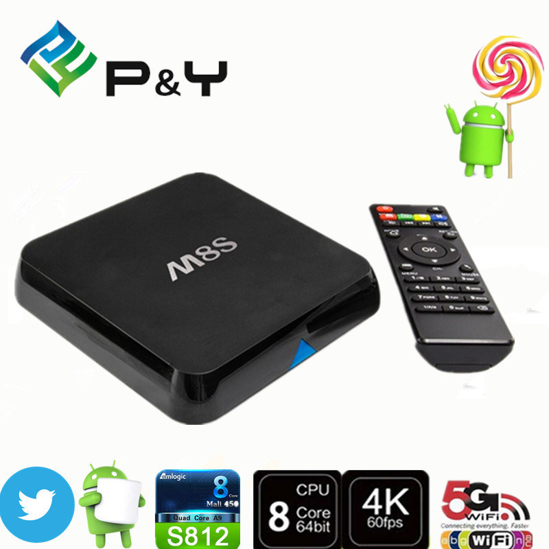 Android Hot Sell Amlogic S812 2g/8g Kodi Smart Quad-Core M8s TV Box Best IPTV Set Top Box