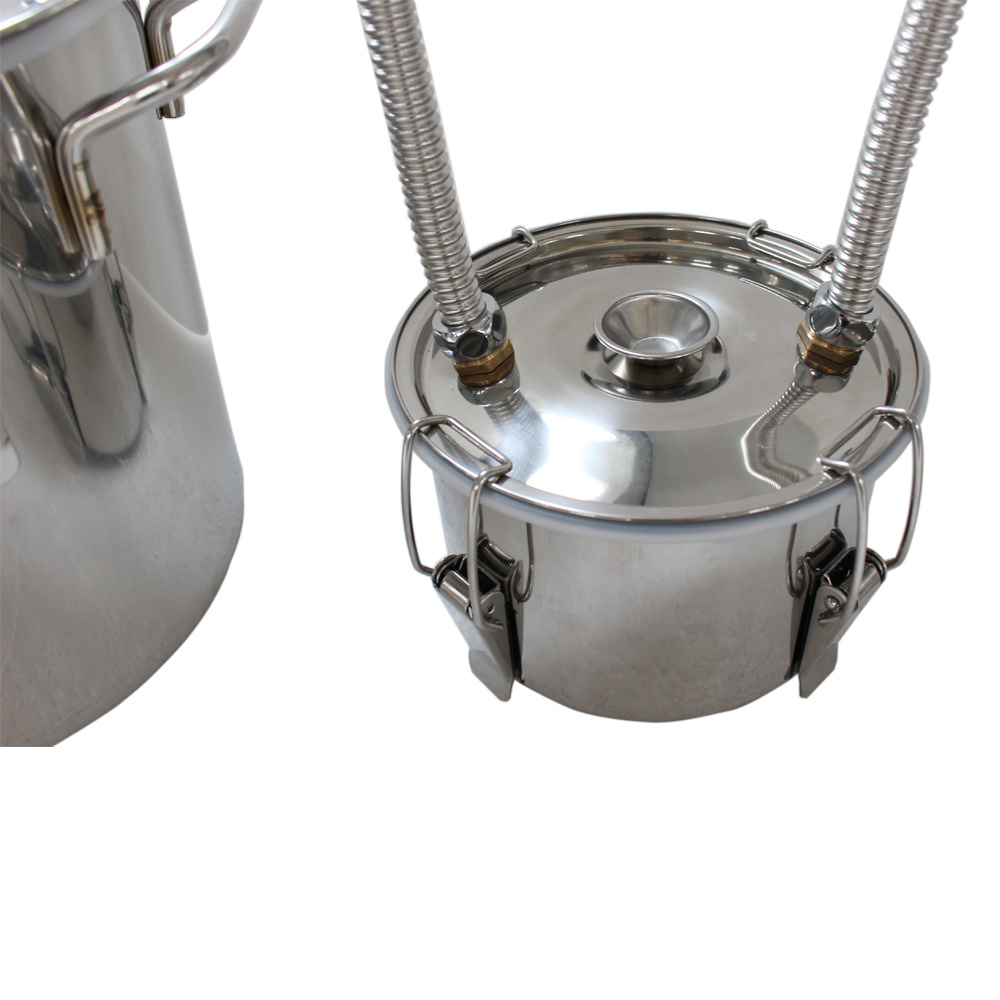 Kingsunshine 18L/5gal Stainless Steel Distiller, Moonshine/Whisky/Rum DIY Distillation Equipment