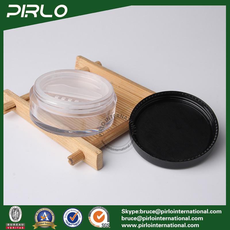 10ml 10g Transparent Plastic Cosmetic Powder Jar with Lid