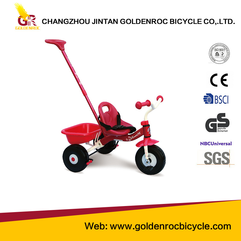 "(GL112-2) High Quality 10"" Baby Tricycle with Ce"