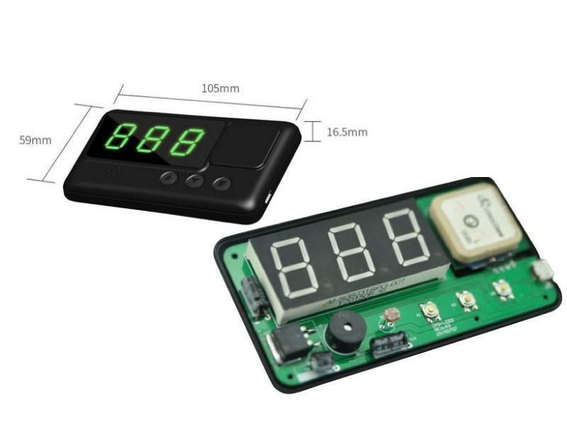 C60 Car Hud GPS Head Display Km / H Mph Overspeed Alarm Windshield Engineering Alarm System Speedometer