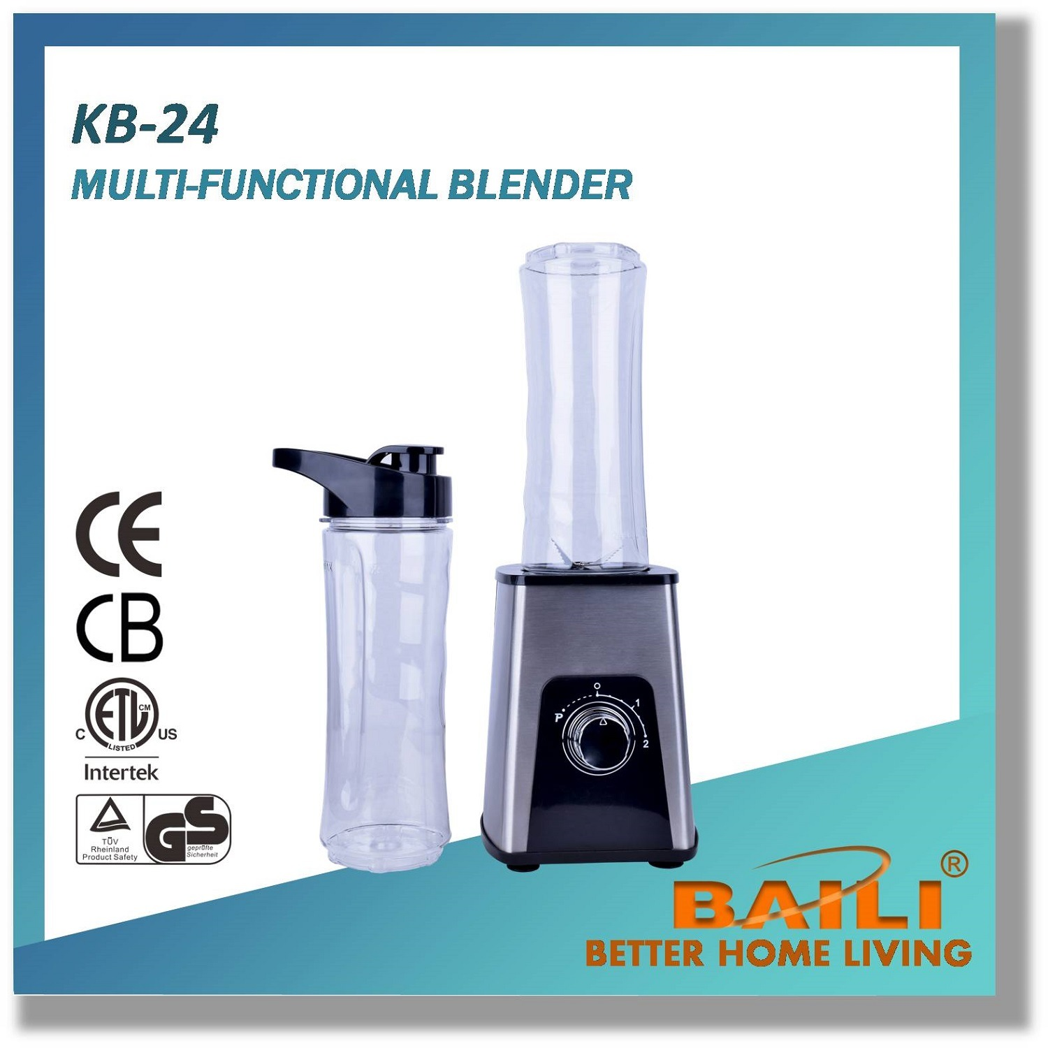 Multifunctional Blender with Two Speeds