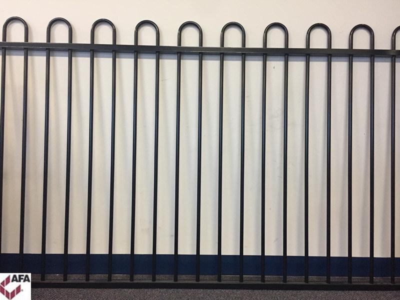 Powder Coated Steel Loop Top Panel Fencing