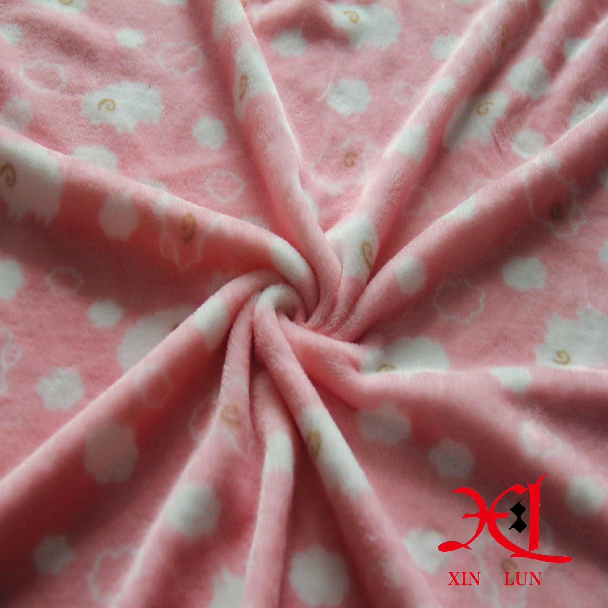 100% Polyester Flannel Fabric Comfortable and Cheap Fabric for Bedding/Pajamas