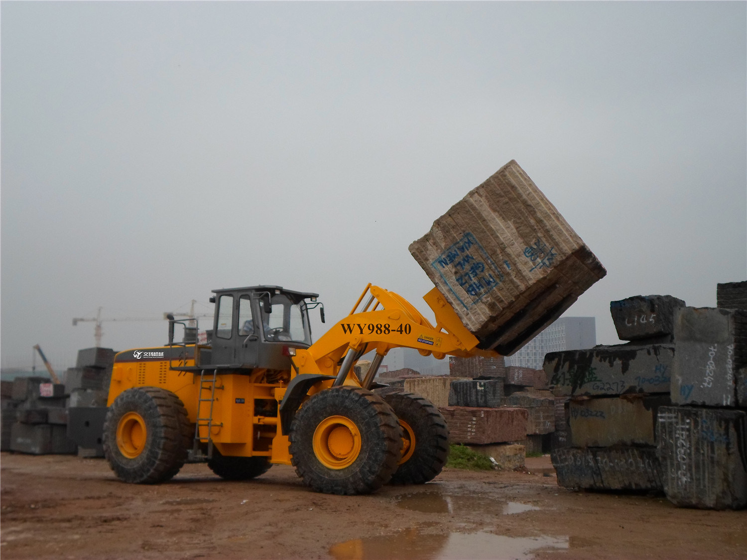Good Quality 40ton Lifting Machine Forklift Loader for Heavy Block