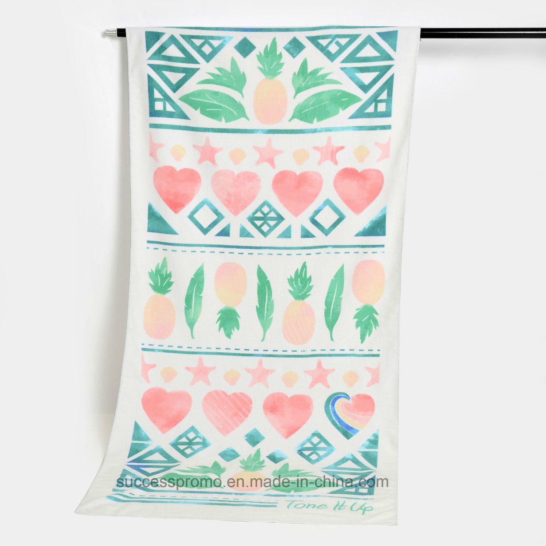 Promotional Microfiber Beach with Customized Design, Cotton Beach Towel