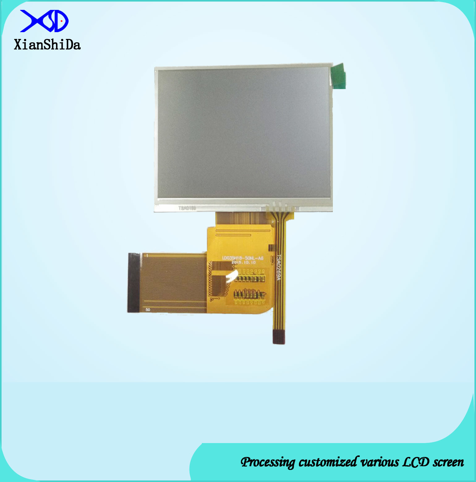 3.5 Inch TFT LCD Screen with Resistive Touch Panel