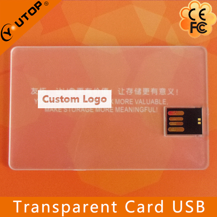 Special Gift Transparent Credit Card USB Flash Memory (YT-3114-02)