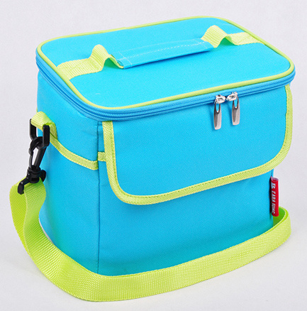 Manufacture Portable Pure Color Ice Cooler Bag with Shoulder Strap