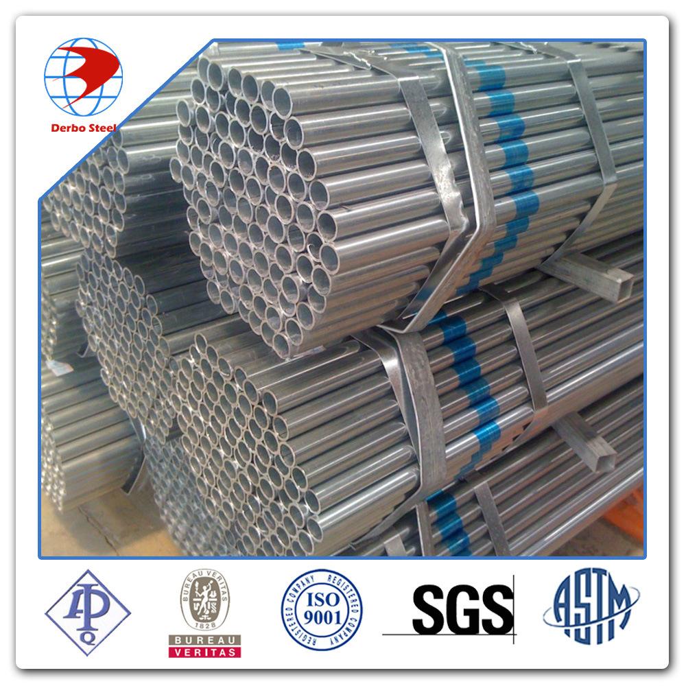 BS1387 ASTM A53 Gr. B Hot DIP Galvanized Steel Pipe