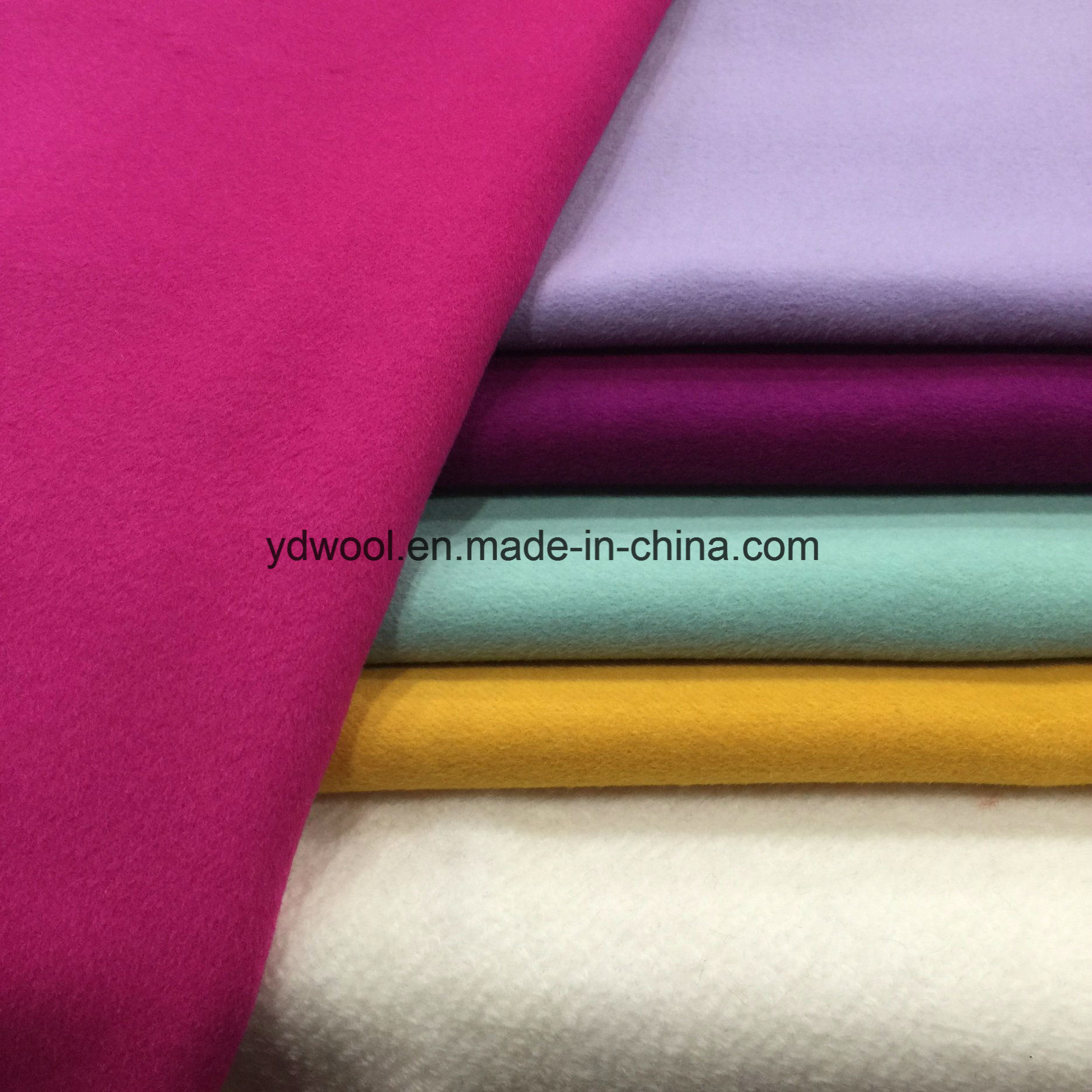 Double Face Colors Wool Fabric