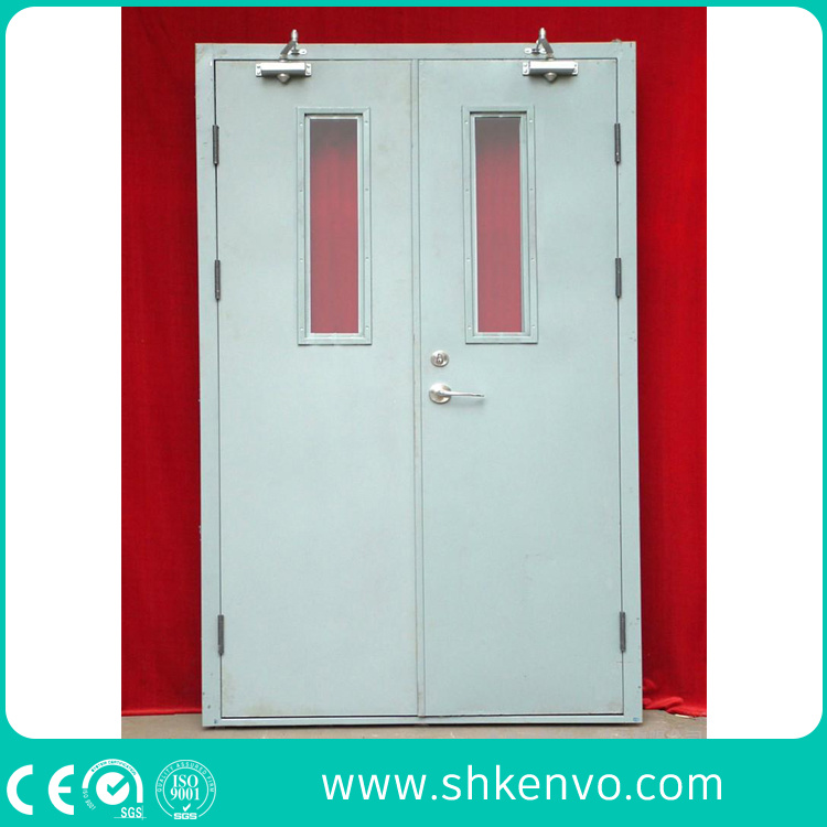 Industrial Double or Single UL and FM Certified Panic Fire Rated Metal Door with Vision Panel