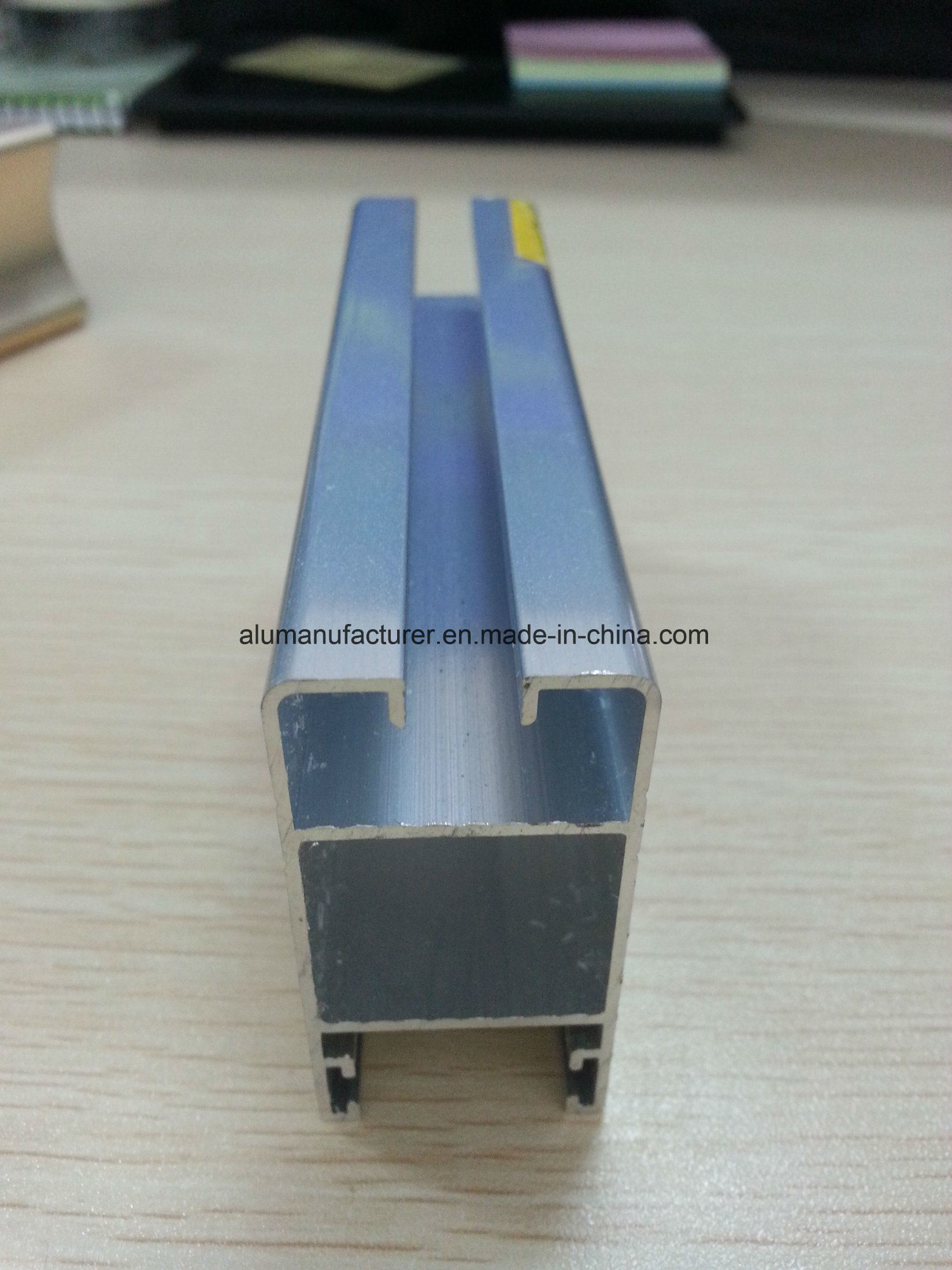 Silver Anodize Aluminium Alloy Extrusion Profile for Door and Window