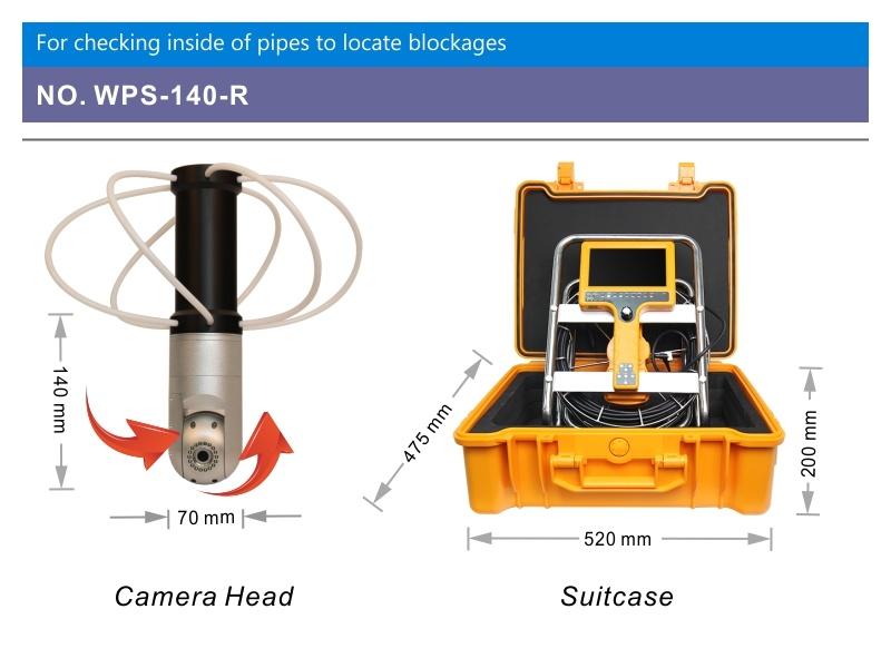 Wopson 20/40m Pan Tilt Chimney Inspection Camera for Plumbing Work