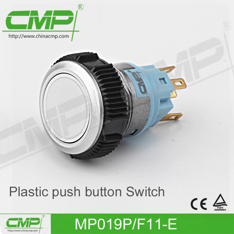19mm Plastic Waterproof Push Button Switch