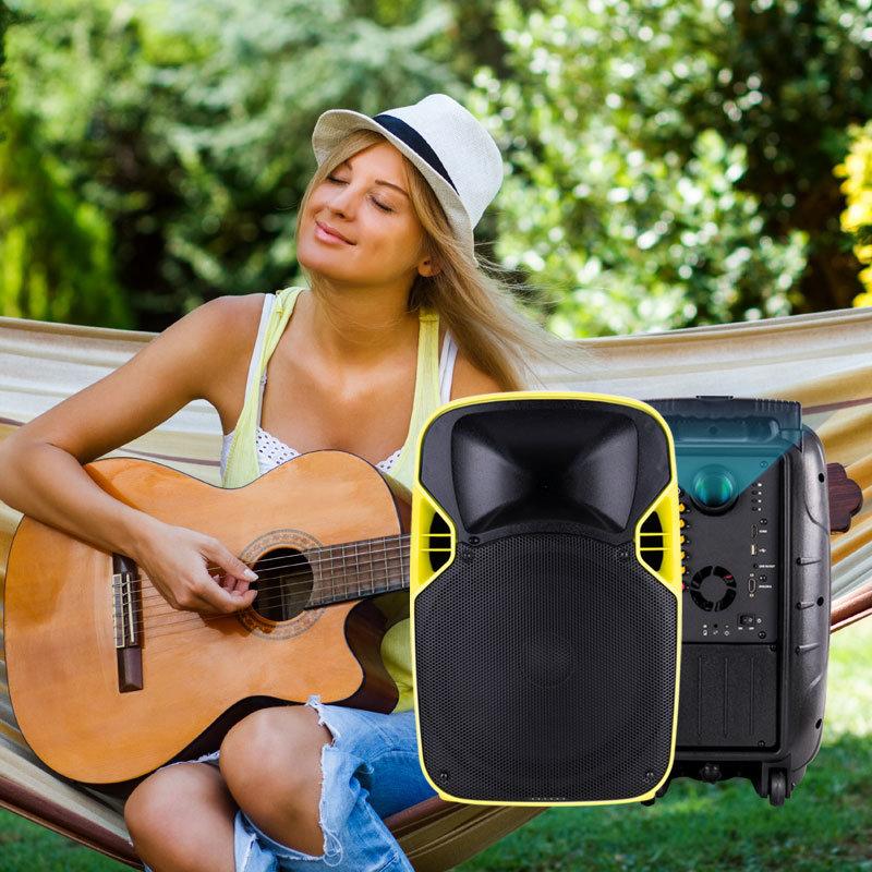 China Wholesale PA Speaker Wireless LED Projection Sound Box