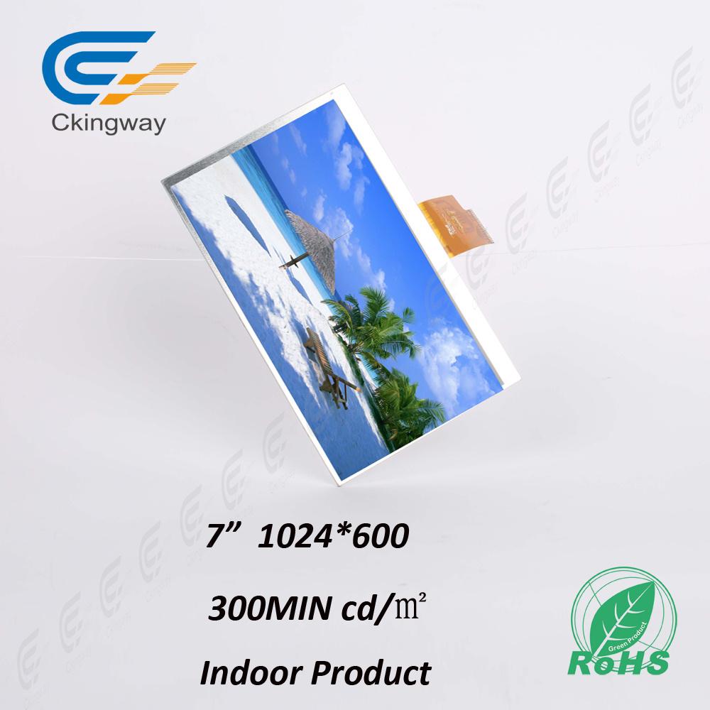 "7"" 1024*600 40 Pin Lvds Interface LCD Display Module"