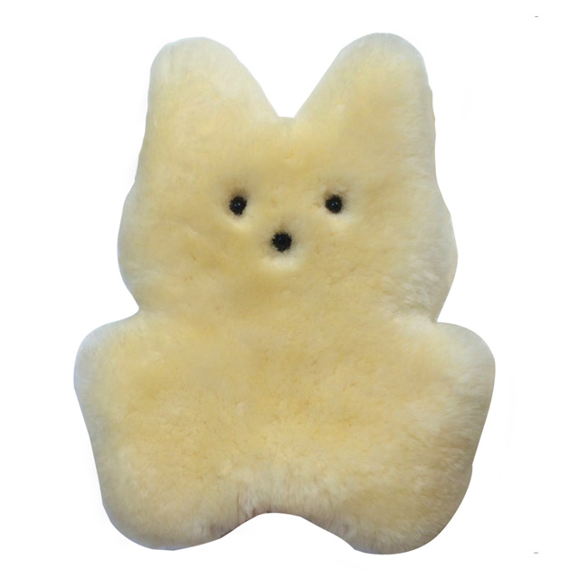 Cuddle Sheepskin Bunny Toy Sheepskin Toy for Baby