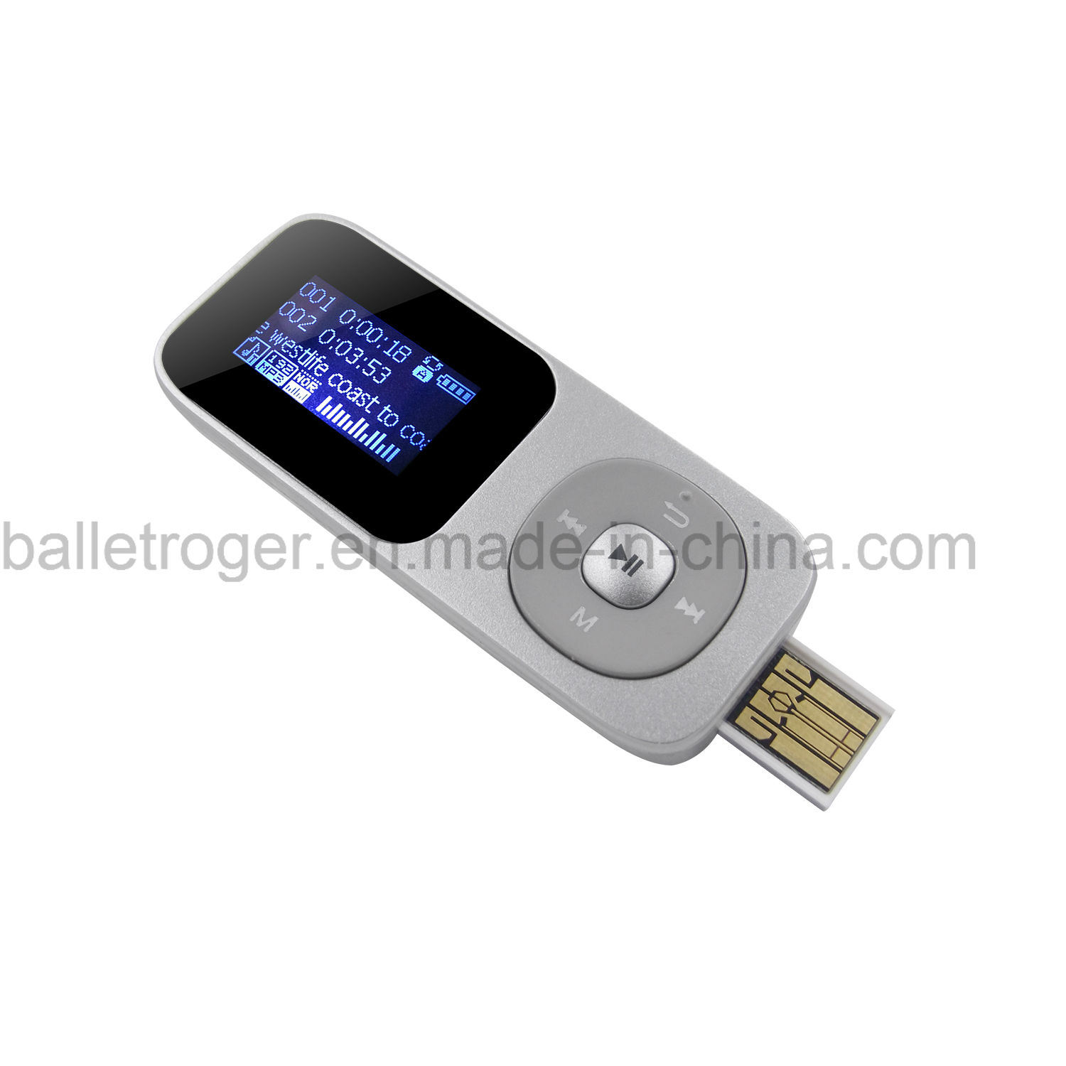 USB MP3 Player with Double Earphone Jack