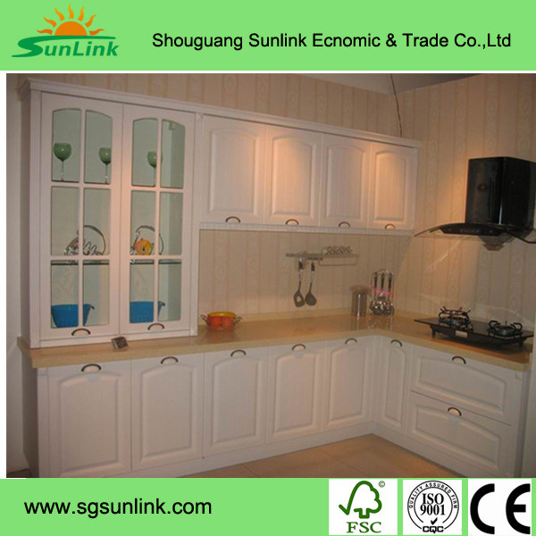 High Glossy Wooden Acrylic Kitchen Cabinet Doors with Edge Banding (ZHUV)
