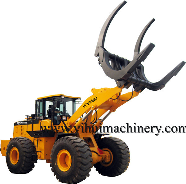 8ton Wheel Loader with Grapple for Wood Log