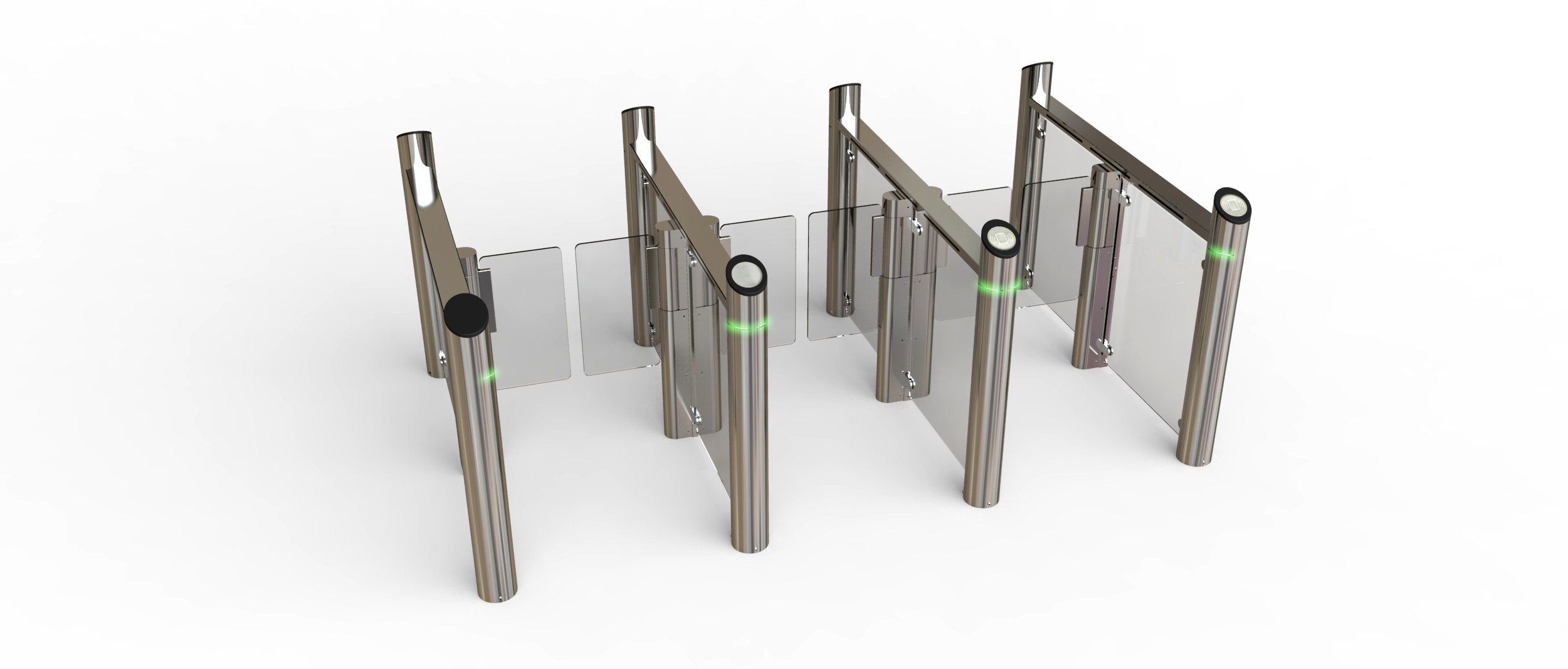Optical Swing Gate with IC/ID Card Reader System