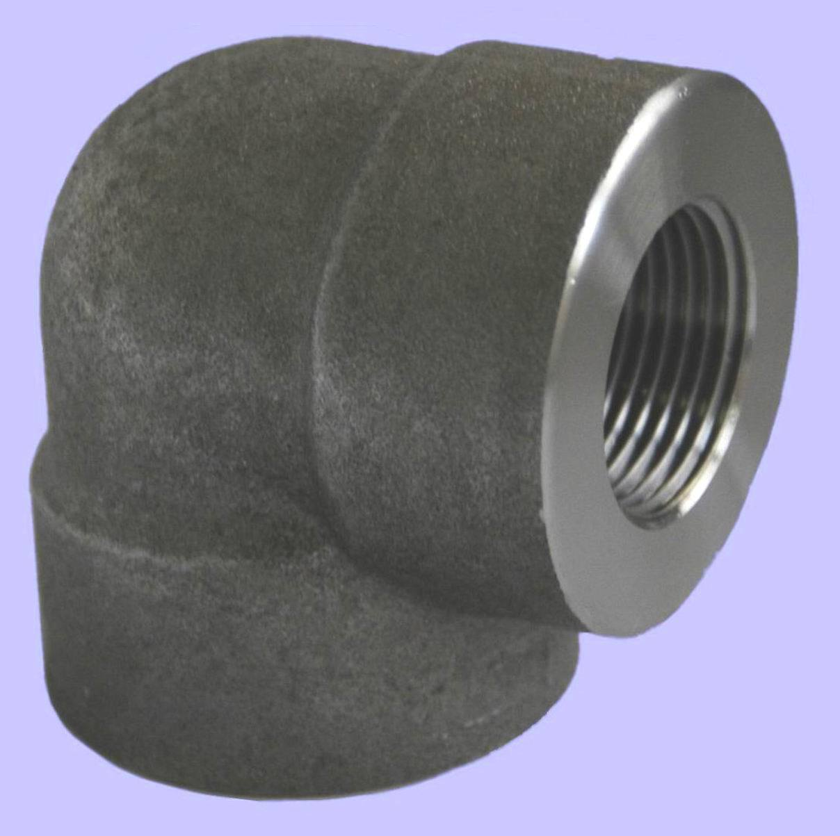 China forged steel pipe fitting threaded elbow