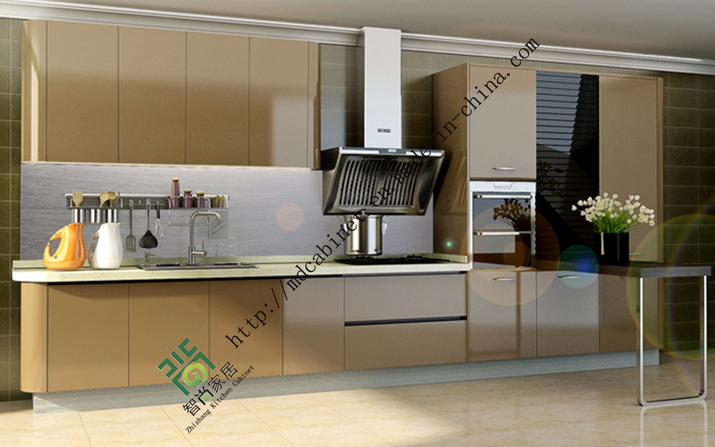 China Acrylic Kitchen Cabinet Door Photos & Pictures