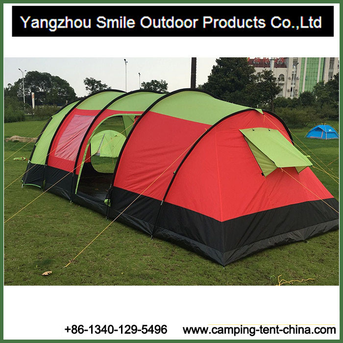 2016 New Product Two Rooms Hiking Tunnel Outdoor Family Tent