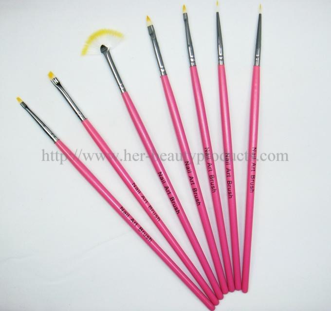 Nail Art Brush Set/ Nail Brushes Set/ Kolinsky Nail Art Brush Set (7NB