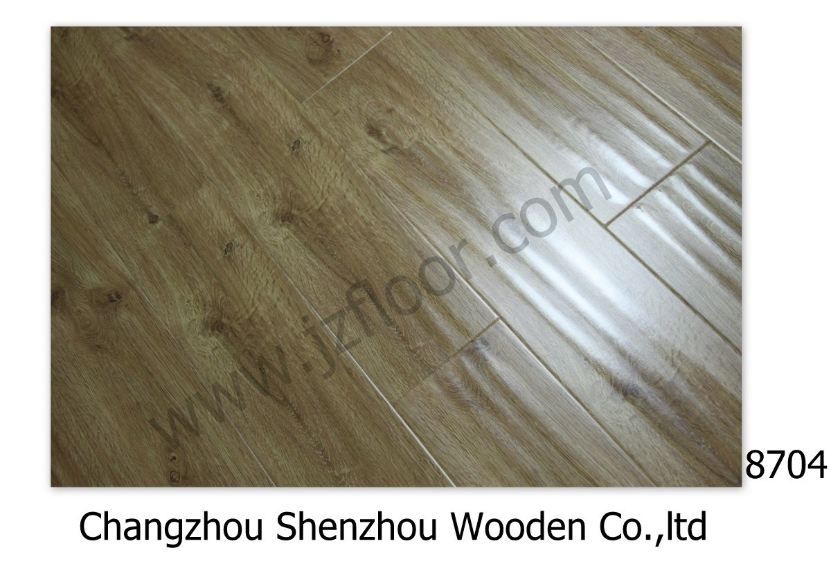 Light Oak Wood Lamianted Flooring 8704 China Laminated Flooring Fl