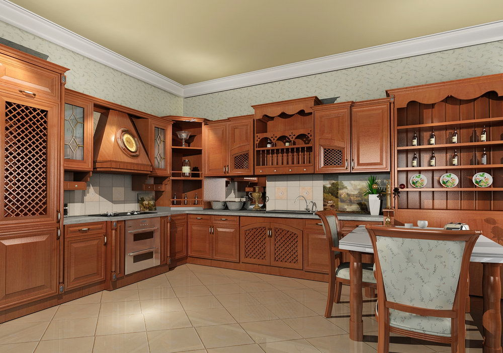 solid wood kitchen cabinet florence alder wood, which can be almost white and walnut
