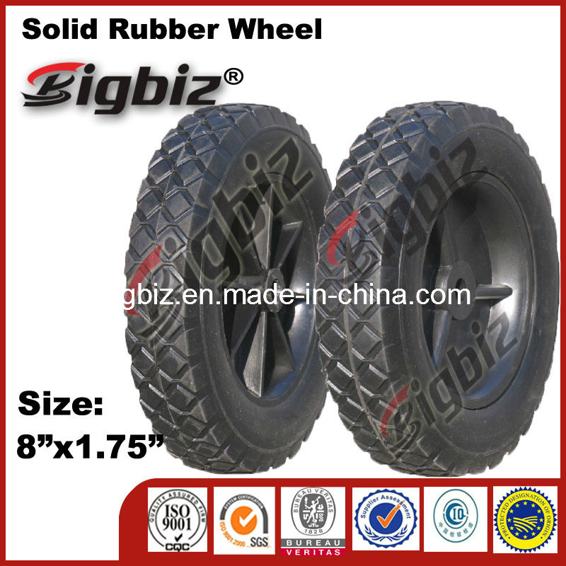 Super High Quality 8 Inch Solid Rubber Wheel