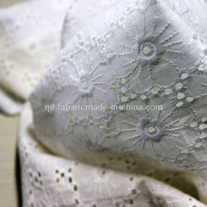 Cotton Lawn Border Embroidery Fabric (QDFAB-111068-9)