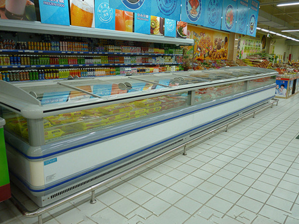 Commercial Deep Island Freezer Display Showcase for Supermarket (DG-20S)