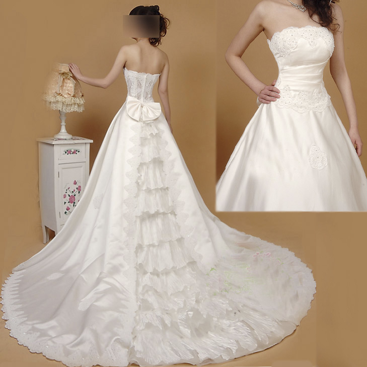 Wedding Dress Train Types 3 Different Examples Of Ways To Bustle A